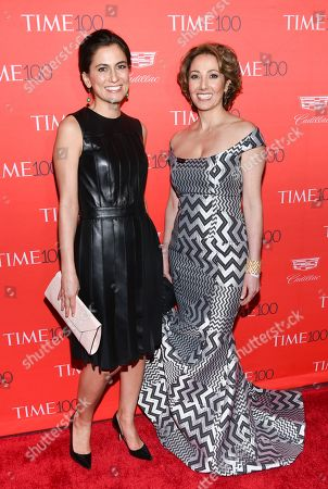 Stock Photo of Tali Farhadian Weinstein, left, and Pardis Sabeti attend the TIME 100 Gala, celebrating the 100 most influential people in the world, at Frederick P. Rose Hall, Jazz at Lincoln Center, in New York