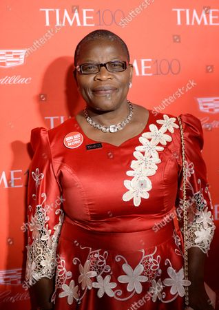 Stock Image of Nigerian chartered accountant Obiageli Ezekwesili attends the TIME 100 Gala, celebrating the 100 most influential people in the world, at Frederick P. Rose Hall, Jazz at Lincoln Center, in New York