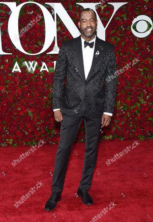 Emilio Sosa arrives at the Tony Awards at the Beacon Theatre, in New York