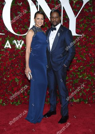 Desiree DaCosta, left, and Blair Underwood arrive at the Tony Awards at the Beacon Theatre, in New York