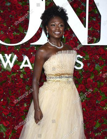 Zainab Jah arrives at the Tony Awards at the Beacon Theatre, in New York