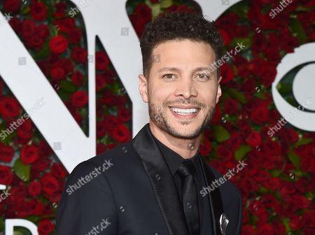 Justin Guarini arrives at the Tony Awards at the Beacon Theatre, in New York
