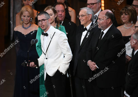 """Stock Photo of Playwright Stephen Karam accepts the Tony award for Best Play for """"The Humans"""" onstage at the Tony Awards at the Beacon Theatre, in New York"""