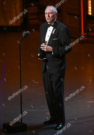Marshall W. Mason accepts the special Tony Award for lifetime achievement in the Theatre at the Tony Awards at the Beacon Theatre, in New York