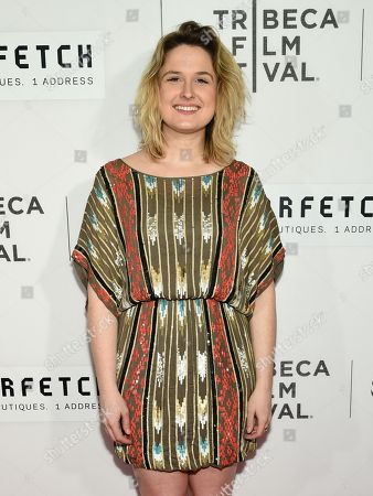 """Cara Cusumano attends the Tribeca Film Festival opening night world premiere of """"The First Monday in May"""" at John Zuccotti Theater at BMCC Tribeca Performing Arts Center, in New York"""