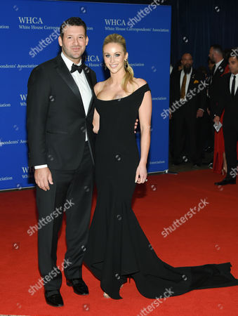 Stock Image of Tony Romo and wife Candice Crawford attend the White House Correspondents' Association Dinner at the Washington Hilton Hotel, in Washington