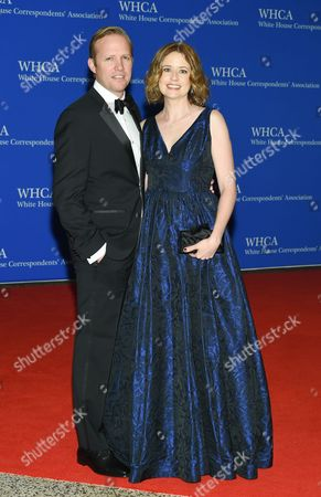 Stock Image of Lee Kirk and Jenna Fischer attend the White House Correspondents' Association Dinner at the Washington Hilton Hotel, in Washington