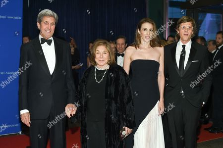 John Kerry, left, Teresa Heinz, Alexandra Kerry and Julien Dobbs-Higginson attend the White House Correspondents' Association Dinner at the Washington Hilton Hotel, in Washington