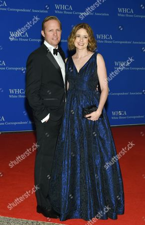 Lee Kirk and Jenna Fischer attend the White House Correspondents' Association Dinner at the Washington Hilton Hotel, in Washington