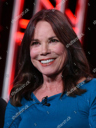 """Barbara Hershey participates in the """"Damien"""" panel at the A&E 2016 Winter TCA, in Pasadena, Calif"""