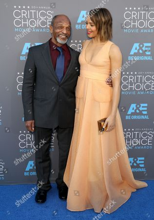 Henry Sanders, left, and Carmen Ejogo arrive at the 20th annual Critics' Choice Movie Awards at the Hollywood Palladium, in Los Angeles