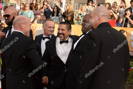 From left, Dean Norris, Michael Bowen, Steven Michael Quezada, Lavell Crawford, and Matthew T. Mezler arrive at the 20th annual Screen Actors Guild Awards at the Shrine Auditorium, in Los Angeles