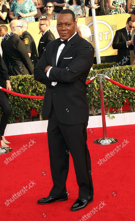 Stock Picture of Eric LaRay Harvey arrives at the 20th annual Screen Actors Guild Awards at the Shrine Auditorium, in Los Angeles