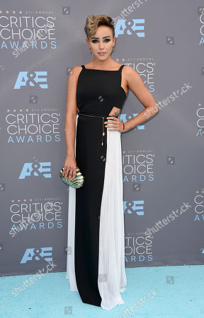 Raychel Diane Weiner arrives at the 21st annual Critics' Choice Awards at the Barker Hangar, in Santa Monica, Calif
