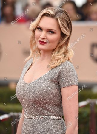 Sunny Mabrey arrives at the 22nd annual Screen Actors Guild Awards at the Shrine Auditorium & Expo Hall, in Los Angeles