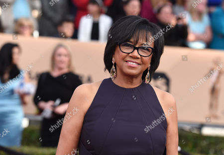 President of the Academy of Motion Picture Arts Cheryl Boone Isaacs arrives at the 22nd annual Screen Actors Guild Awards at the Shrine Auditorium & Expo Hall, in Los Angeles