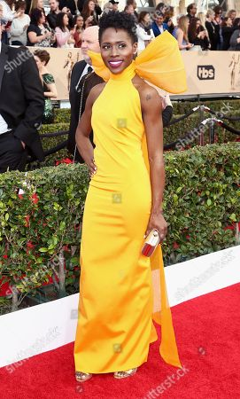 Stock Picture of Sola Bamis arrives at the 22nd annual Screen Actors Guild Awards at the Shrine Auditorium & Expo Hall, in Los Angeles