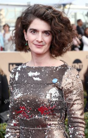 Gaby Hoffman arrives at the 22nd annual Screen Actors Guild Awards at the Shrine Auditorium & Expo Hall, in Los Angeles