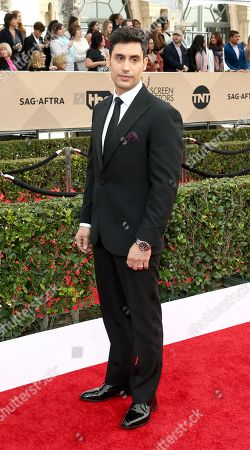 Rene Ifrah arrives at the 22nd annual Screen Actors Guild Awards at the Shrine Auditorium & Expo Hall, in Los Angeles