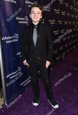 "Benjamin Stockham arrives at the 23rd annual ""A Night at Sardi's"" to benefit the Alzheimer's Association at the Beverly Hilton Hotel, in Beverly Hills, Calif"