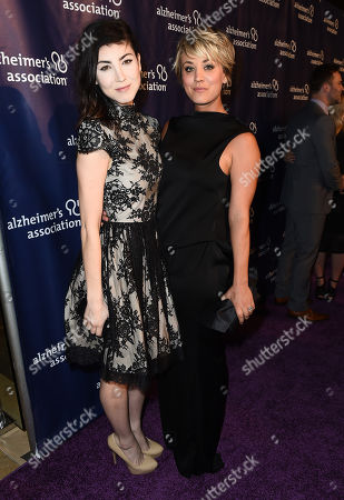 """Briana Cuoco and Kaley Cuoco-Sweeting arrive at the 23rd annual """"A Night at Sardi's"""" to benefit the Alzheimer's Association at the Beverly Hilton Hotel, in Beverly Hills, Calif"""