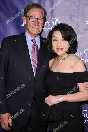 "Maury Povich, left, and Connie Chung attend the 24th Annual ""A Night at Sardi's"" held at the Beverly Hilton Hotel, in Beverly Hills, Calif"