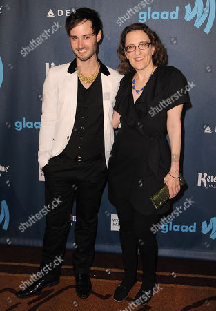Brad Bell, left, and Jane Espenson arrive at the 24th Annual GLAAD Media Awards at the JW Marriott on in Los Angeles