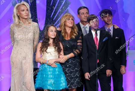 Lauren Foster, Jazz Jennings and family attend the 24th Annual GLAAD Media Awards at the JW Marriott on in Los Angeles