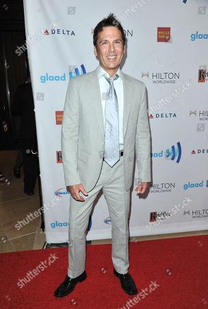 David Millbern arrives at the 25th Annual GLAAD Media Awards on