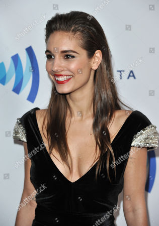 Caitlin Stasey arrives at the 25th Annual GLAAD Media Awards on Richard Shotwell/Invision/AP