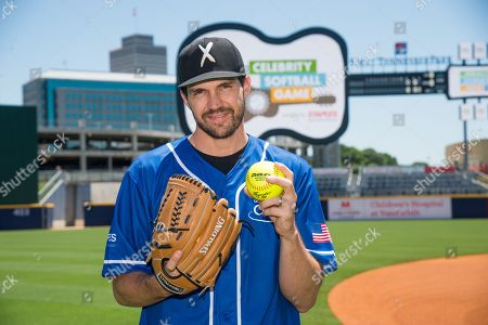 Barry Zito poses at the 26th Annual City of Hope Celebrity Softball Game at First Tennessee Park on in Nashville, Tenn