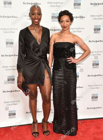 Oge Egbuonu, left, and Ruth Negga attend the 26th annual Gotham Independent Film Awards at Cipriani Wall Street, in New York