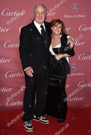 Jerry Weintraub, left, and Susan Ekins arrive at the 26th annual Palm Springs International Film Festival Awards Gala, in Palm Springs, Calif