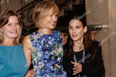 Jennifer Egan, from left, Willow Bay, and Winona Ryder seen at the 26th Annual Literary Awards Festival on Wed, in Beverly Hills, Calif