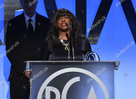 Chaz Ebert speaks on stage at the 26th Annual Producers Guild Awards at the Hyatt Regency Century Plaza, in Los Angeles