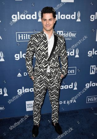 Michael J. Willett arrives at the 27th Annual GLAAD Media Awards at the Beverly Hilton, in Beverly Hills, Calif