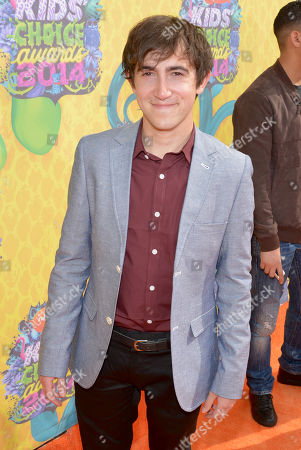 Stock Image of Vincent Martella arrives at the 27th annual Kids' Choice Awards at the Galen Center, in Los Angeles