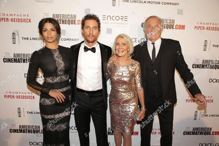 Camila Alves, Matthew McConaughey, Kay McConaughey and C.J. Carlig seen at the 28th Annual American Cinematheque Awards Honoring Matthew McConaughey held at The Beverly Hilton, in Beverly Hills
