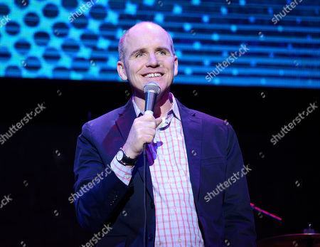 Stock Photo of Greg Fitzsimmons speaks on stage at the 2nd Annual California Fire Foundation Gala at Avalon Hollywood, in Hollywood, Calif