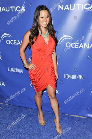 Angela Sun arrives at the 2nd Annual Nautica Oceana Beach House Party, in Santa Monica, Calif