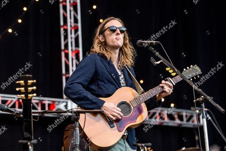 Carl Broemel of My Morning Jacket performs at the 30th Annual Bridge School Benefit Concert at the Shoreline Ampthitheatre, in Mountain View, Calif