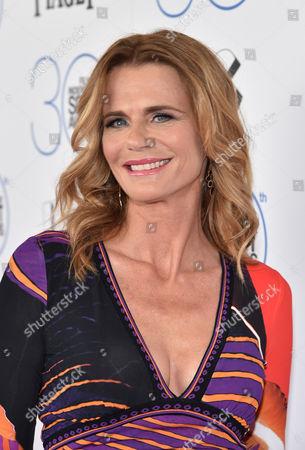 Serena Scott Thomas arrives at the 30th Film Independent Spirit Awards, in Santa Monica, Calif