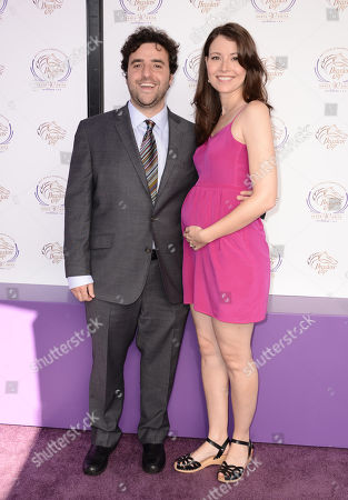 David Krumholtz, left, and Vanessa Britting are seen at the 30th Running of the Breeders' Cup World Championships Day 2, on in Arcadia, Calif
