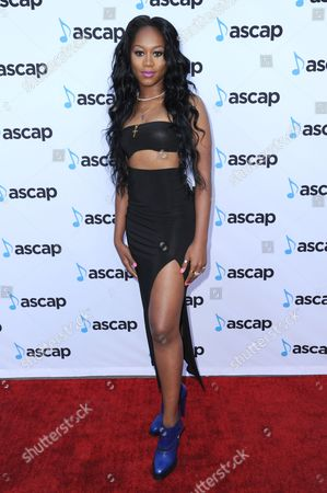 Stock Picture of Priscilla Renea arrives at the 33rd annual ASCAP Pop Music Awards at the Dolby Ballroom, in Los Angeles