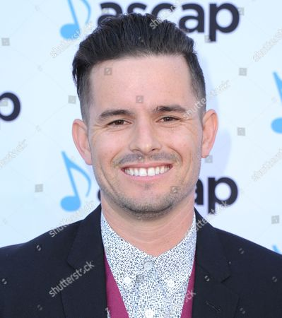 Stock Photo of Nolan Sipe, award winner for Honey, I'm Good by Andy Grammer, arrives at the 33rd annual ASCAP Pop Music Awards at the Dolby Ballroom, in Los Angeles