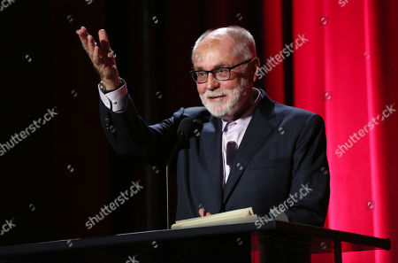 Robert David Hall presents a College Television Award at the 35th College Television Awards, presented by the Television Academy Foundation at The Leonard H. Goldenson Theatre in the NoHo Arts District, in Los Angeles