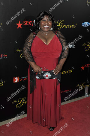 Stock Image of Ellia English arrives at the 38th Annual Gracie Awards Gala at the Beverly Hilton Hotel on in Beverly Hills, Calif