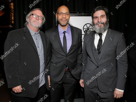 Sean Bobbitt, John Ridley and Anthony Katagas attend the 39th Annual Los Angeles Film Critics Association Awards at InterContinental Hotel on in Century City, California