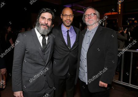 Anthony Katagas, John Ridley and Sean Bobbitt attend the 39th Annual Los Angeles Film Critics Association Awards at InterContinental Hotel on in Century City, California