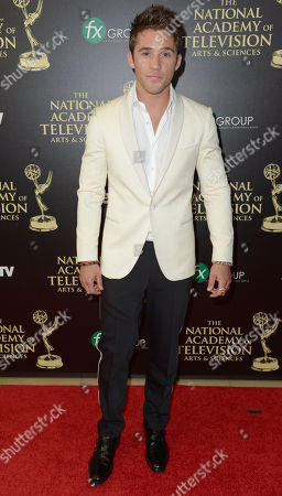 Casey Moss arrives at the 41st annual Daytime Emmy Awards at the Beverly Hilton Hotel, in Beverly Hills, Calif